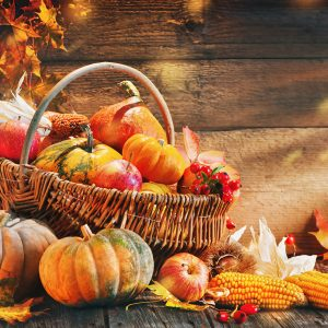 fall foods in basket